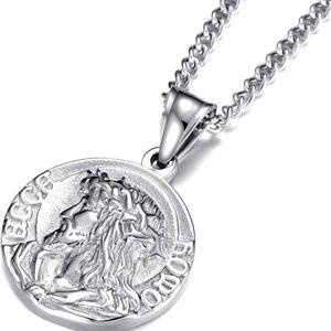 "🆕️ Jesus Christ Pendant Necklace22"" Chain"